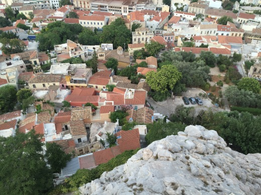 A vista of Athens from the Acropolis, GR