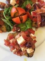 Fresh tomato pesto bruschetta