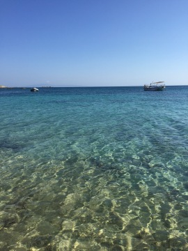 The crystal blue waters off Naxos, GR